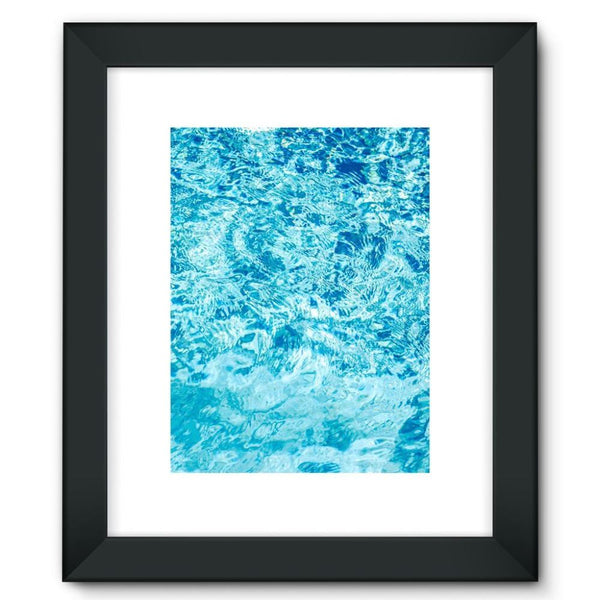 Crystal Blue Water Framed Fine Art Print 12X16 / Black Wall Decor