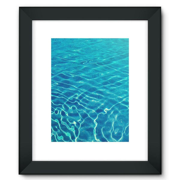 Crystal Clear Blue Water Framed Fine Art Print 12X16 / Black Wall Decor