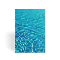 Crystal Clear Blue Water Greeting Card 1 Prints