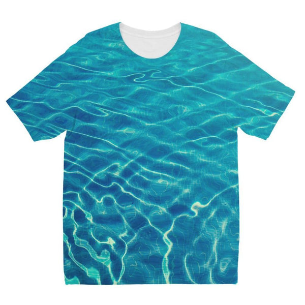 Crystal Clear Blue Water Kids Sublimation T-Shirt 3-4 Years Apparel