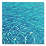 Crystal Clear Blue Water Stretched Canvas 10X10 Wall Decor