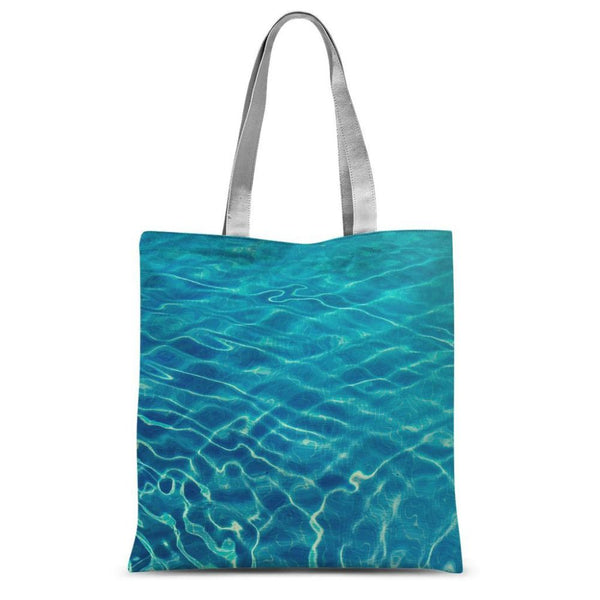 Crystal Clear Blue Water Sublimation Tote Bag 15X16.5 Accessories