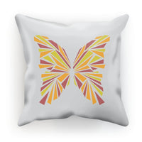 Crystal Orange Butterfly Cushion Faux Suede / 12X12 Homeware