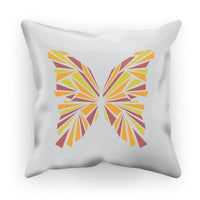 Crystal Orange Butterfly Cushion Faux Suede / 18X18 Homeware