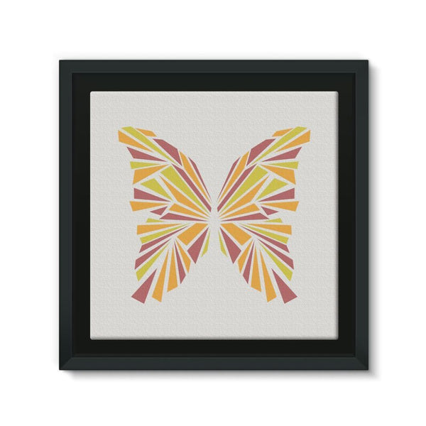 Crystal Orange Butterfly Framed Eco-Canvas 10X10 Wall Decor