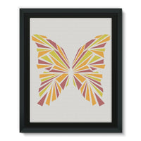 Crystal Orange Butterfly Framed Eco-Canvas 11X14 Wall Decor