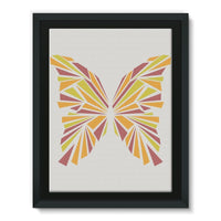 Crystal Orange Butterfly Framed Eco-Canvas 18X24 Wall Decor
