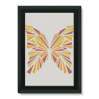 Crystal Orange Butterfly Framed Eco-Canvas 20X30 Wall Decor