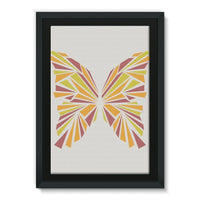 Crystal Orange Butterfly Framed Eco-Canvas 24X36 Wall Decor