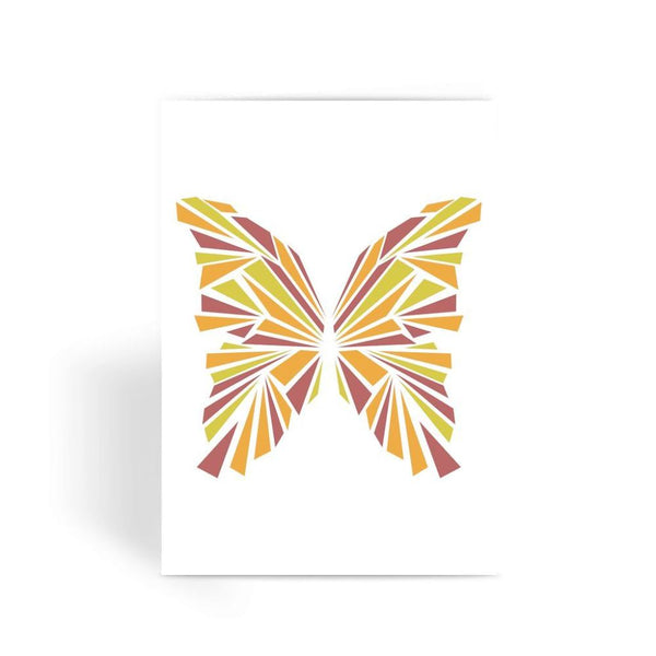 Crystal Orange Butterfly Greeting Card 1 Prints