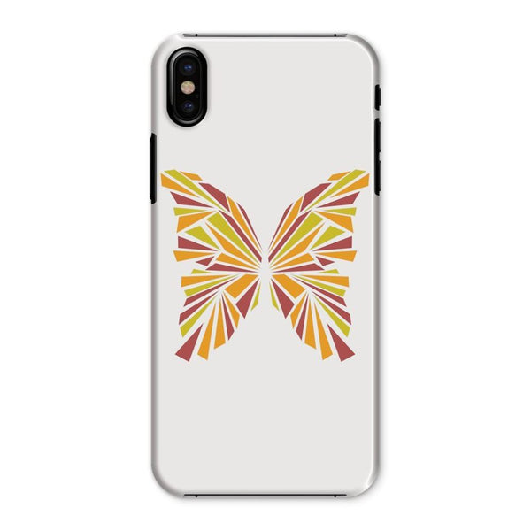 Crystal Orange Butterfly Phone Case Iphone X / Snap Gloss & Tablet Cases