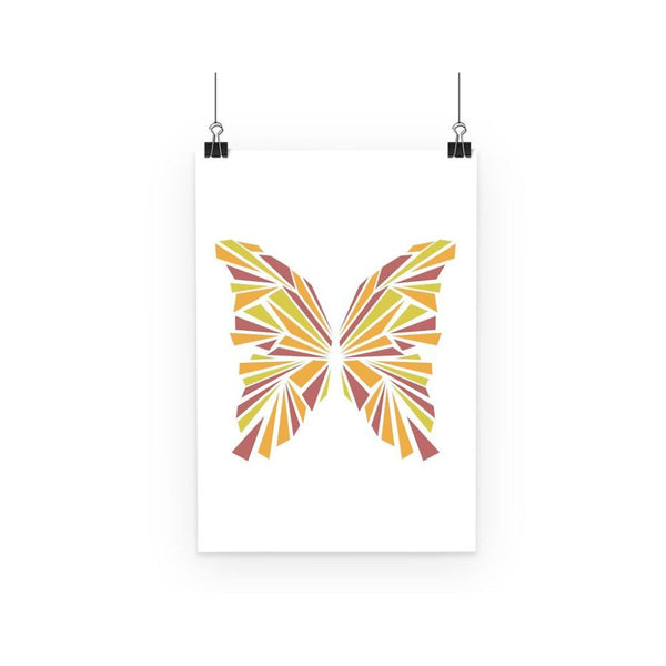 Crystal Orange Butterfly Poster A3 Wall Decor