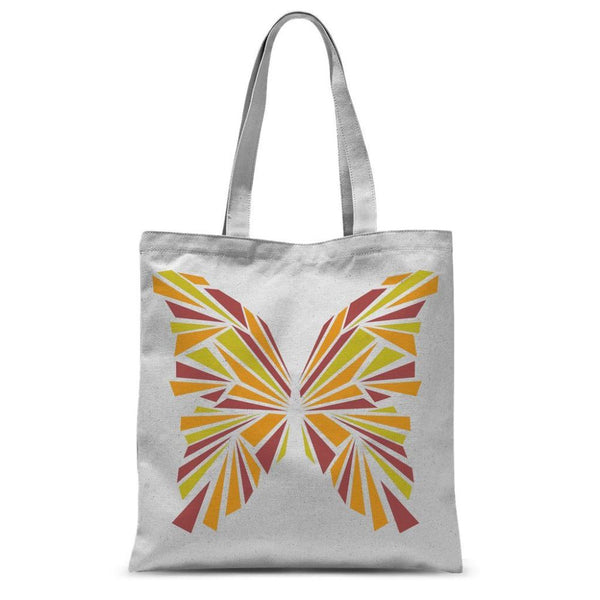 Crystal Orange Butterfly Sublimation Tote Bag 15X16.5 Accessories
