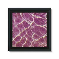 Crystal Water Over Pink Sand Framed Eco-Canvas 10X10 Wall Decor
