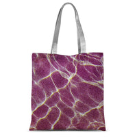 Crystal Water Over Pink Sand Sublimation Tote Bag 15X16.5 Accessories