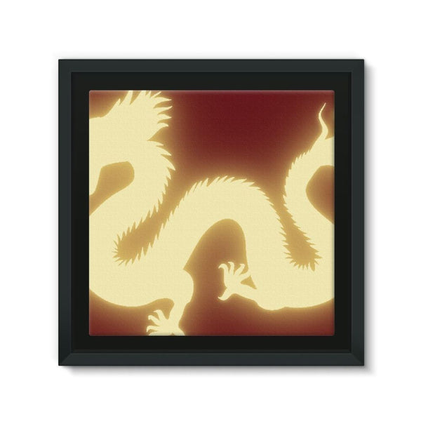 Cut Out Of A Chinese Dragon Framed Canvas 12X12 Wall Decor