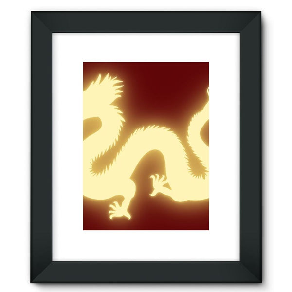 Cut Out Of A Chinese Dragon Framed Fine Art Print 12X16 / Black Wall Decor