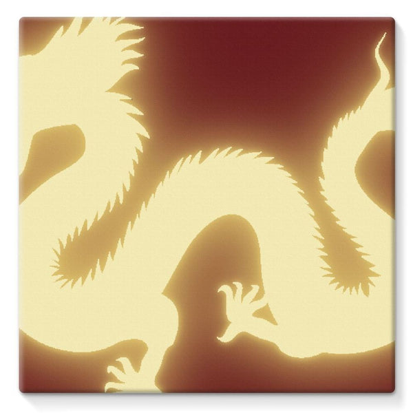 Cut Out Of A Chinese Dragon Stretched Canvas 10X10 Wall Decor