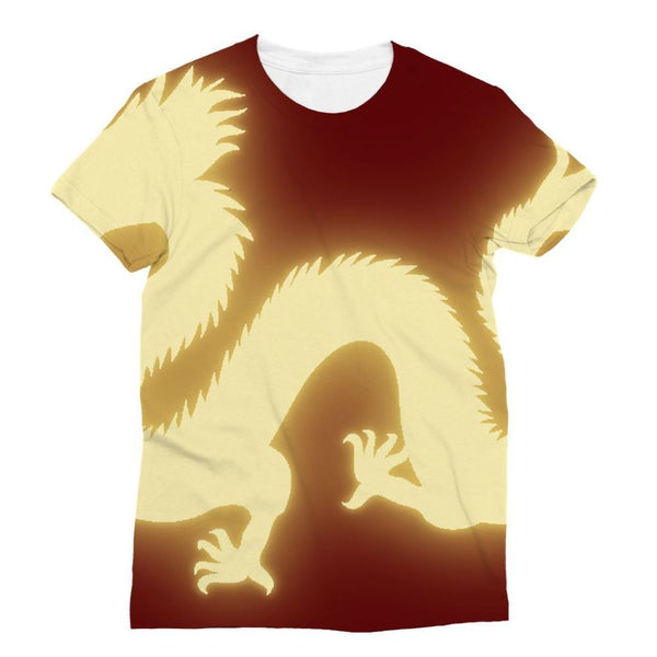 Cut Out Of A Chinese Dragon Sublimation T-Shirt Xs Apparel