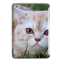 Cute Cat In Yard Closeup Tablet Case Ipad Mini 2 3 Phone & Cases