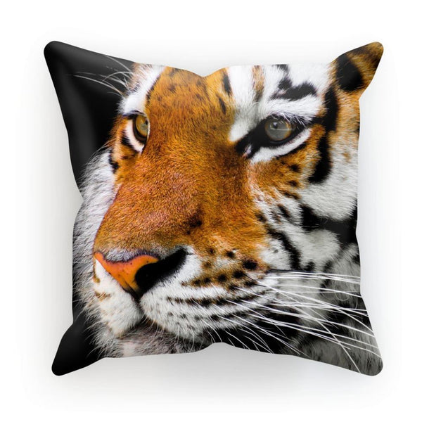 Cute Close-Up Picture Tiger Cushion Linen / 12X12 Homeware
