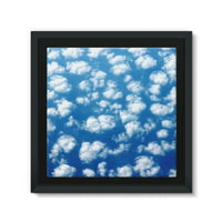 Cyclone In The Clouds Framed Canvas 12X12 Wall Decor