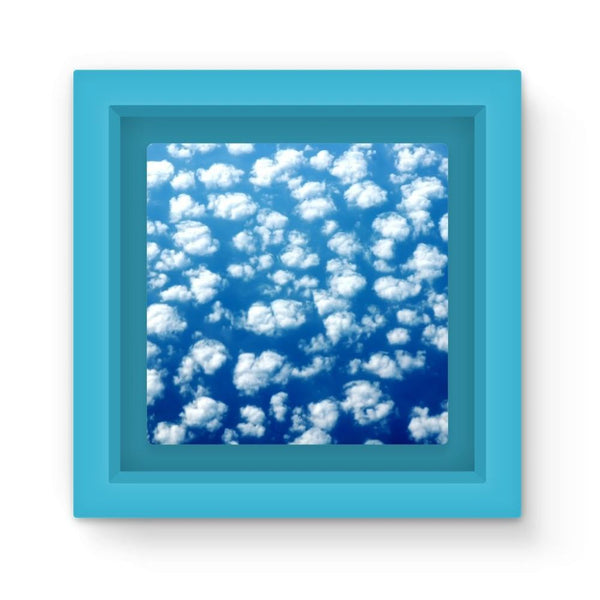 Cyclone In The Clouds Magnet Frame Light Blue Homeware