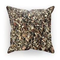 Dead Laves On Ground Autumn Cushion Faux Suede / 18X18 Homeware