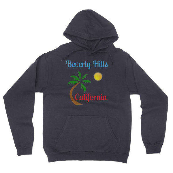 Beverly Hills California California Fleece Pullover Hoodie