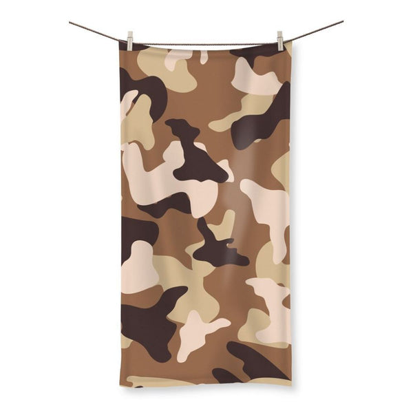 Desert Camo Sand Beach Towel 19.7X39.4 Homeware