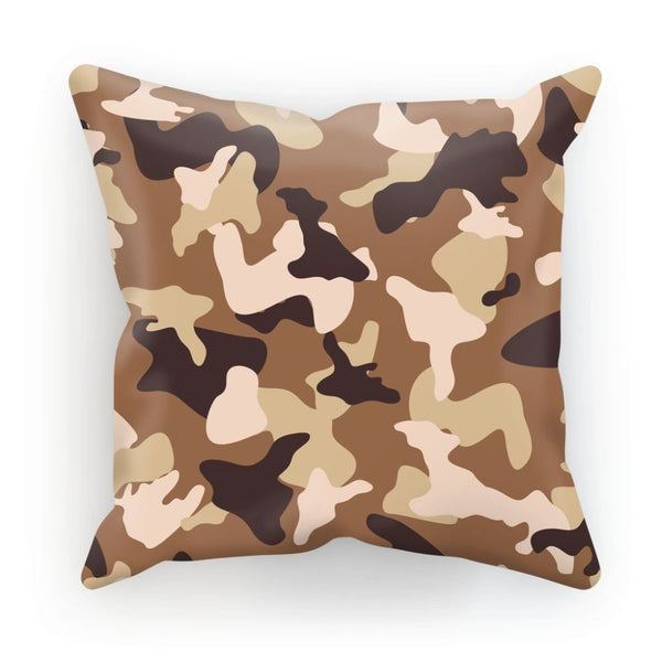 Desert Camo Sand Cushion Linen / 12X12 Homeware