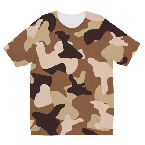 Desert Camo Sand Kids Sublimation T-Shirt 3-4 Years Apparel