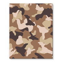 Desert Camo Sand Stretched Eco-Canvas 11X14 Wall Decor
