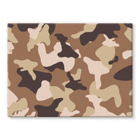 Desert Camo Sand Stretched Eco-Canvas 24X18 Wall Decor