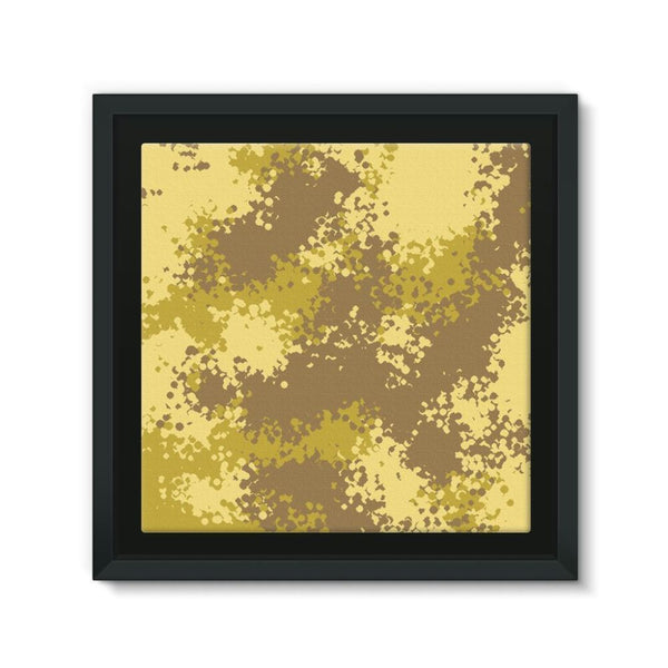 Desert Camouflage Pattern Framed Canvas 12X12 Wall Decor