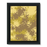 Desert Camouflage Pattern Framed Canvas 12X16 Wall Decor