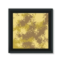 Desert Camouflage Pattern Framed Canvas 14X14 Wall Decor