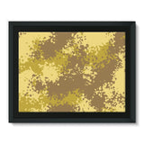 Desert Camouflage Pattern Framed Canvas 16X12 Wall Decor