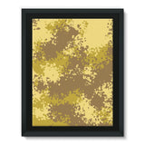 Desert Camouflage Pattern Framed Canvas 18X24 Wall Decor