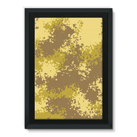 Desert Camouflage Pattern Framed Canvas 20X30 Wall Decor