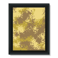 Desert Camouflage Pattern Framed Canvas 24X32 Wall Decor