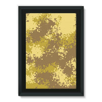 Desert Camouflage Pattern Framed Canvas 24X36 Wall Decor