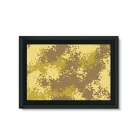 Desert Camouflage Pattern Framed Canvas 30X20 Wall Decor