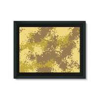 Desert Camouflage Pattern Framed Canvas 32X24 Wall Decor
