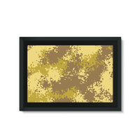 Desert Camouflage Pattern Framed Canvas 36X24 Wall Decor