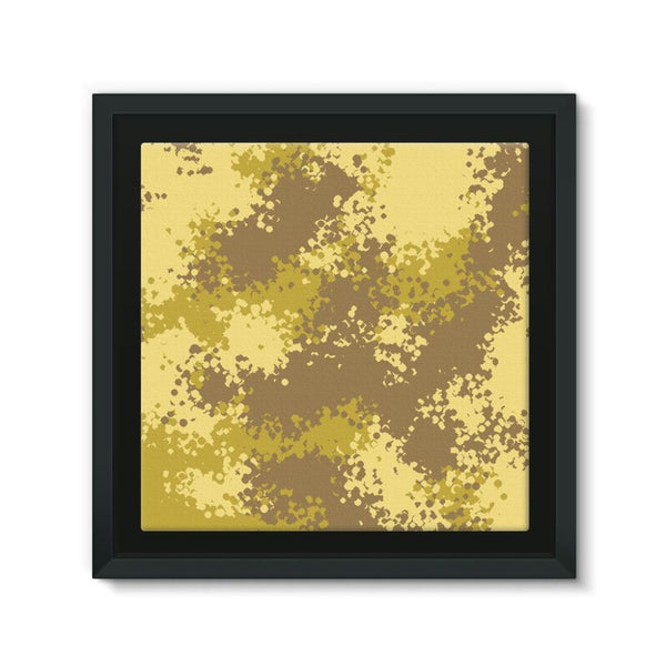 Desert Camouflage Pattern Framed Eco-Canvas 10X10 Wall Decor