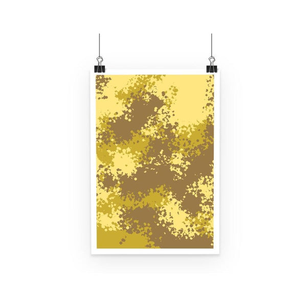 Desert Camouflage Pattern Poster A3 Wall Decor