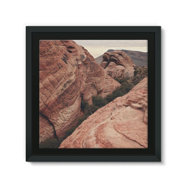 Desert Mountain Framed Canvas 12X12 Wall Decor