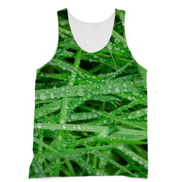 Dew On Blades Of Lush Grass Sublimation Vest Xs Apparel