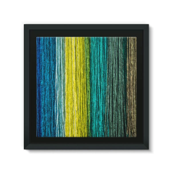 Different Color Expression Framed Canvas 12X12 Wall Decor